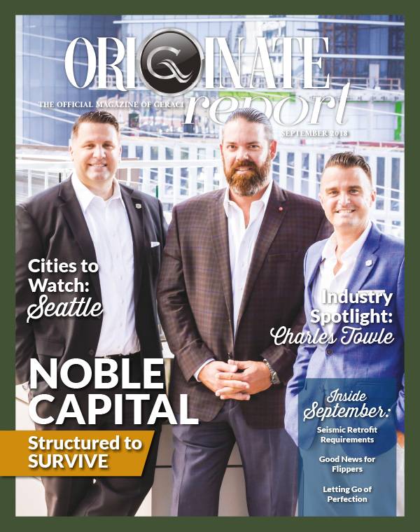 Originate Magazine Cover - Sept 2018